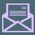 Icône représentant un courrier en boite-à-lettres ouvert