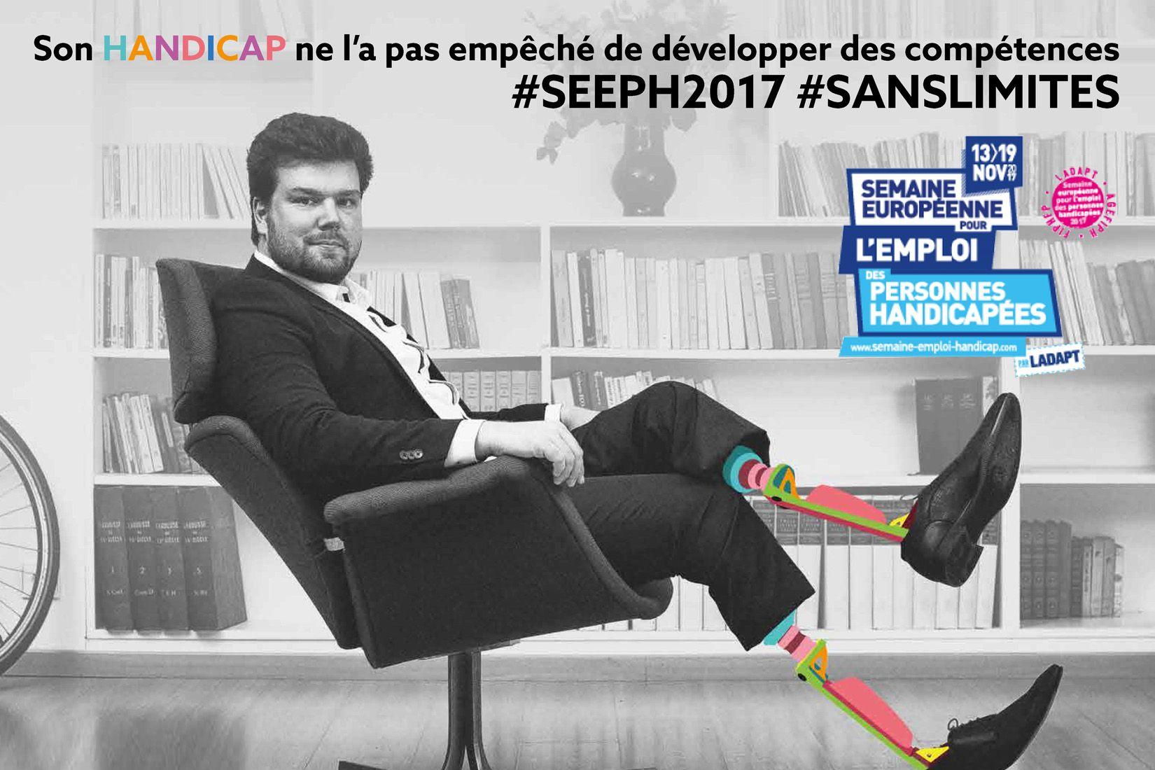 Affiche de la semaine européenne pour l'emploi des personnes handicapées