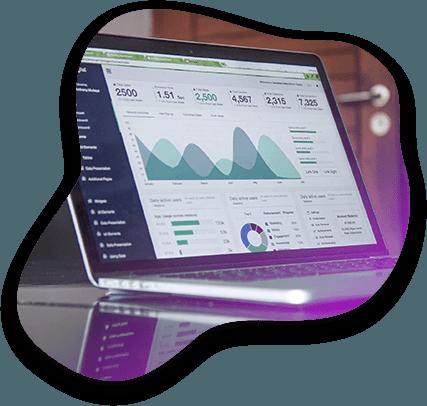 Vue sur un ordinateur présentant le suivi de données de la campagne de réalité augmentée
