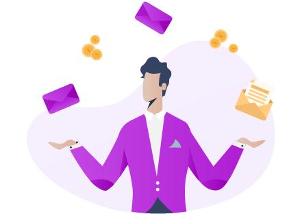 Un client réalise des économies et jongle avec des courriers distribués en boîte-à-lettres