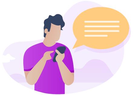 Un client Adrexo envoie des sms et des emails via son smartphone